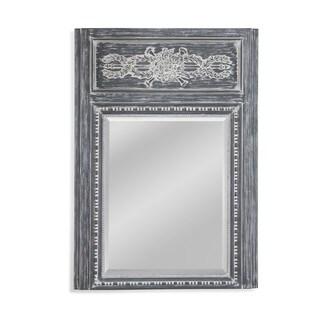 Bassett Mirror Chateau Grey Resin 34-inch by 48-inch Rectangular Wall Mirror