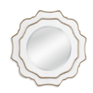 Tabitha Silver/White Resin Wall Mirror