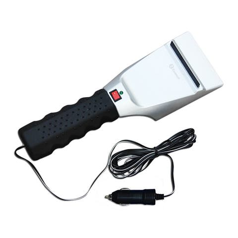 Zone Tech 12V Heated Car Winter Windshield Electric Snow and Non-Scratch Ice Scraper