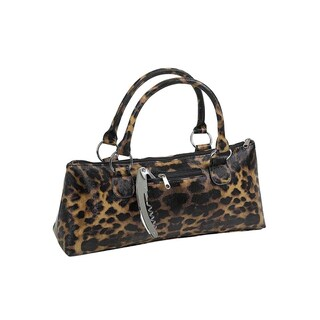 Insulated Wine Clutch in Leopard Print or Hot Pink