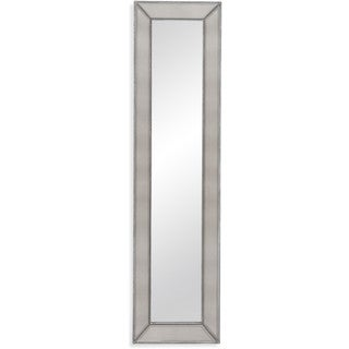 Bassett Mirror Silver-tone Beaded Leaning Mirror