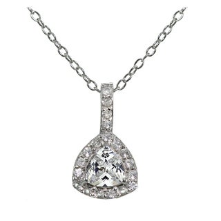Icz Stonez Sterling Silver Cubic Zirconia Trillion-Cut Necklace