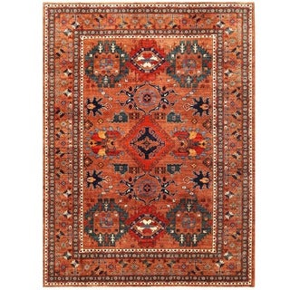 Herat Oriental Afghan Hand-knotted Vegetable Dye Turkoman Wool Rug (8'2 x 10'9)
