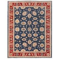 Herat Oriental Afghan Hand-knotted Vegetable Dye Oushak Wool Rug (9'2 x 11'9) - 9'2 x 11'9