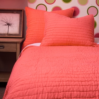Cottage Home Basic Cotton Handmade Coral Quilt