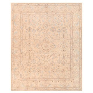 Herat Oriental Afghan Hand-knotted Vegetable Dye Oushak Wool Rug (8' x 9'10)