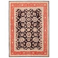 Handmade Herat Oriental Afghan Vegetable Dye William Morris Wool Rug (Afghanistan) - 8'9 x 12'2
