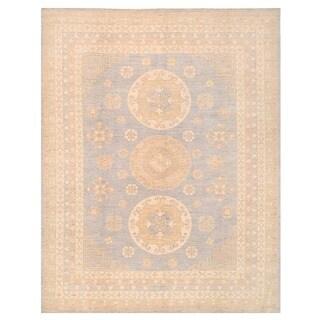 Herat Oriental Afghan Hand-knotted Vegetable Dye Khotan Wool Rug (8'11 x 11'4)