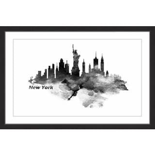 Marmont Hill - 'Classic New York' Framed Painting Print