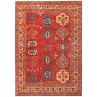 Herat Oriental Afghan Hand-knotted Vegetable Dye Kazak Wool Rug (8'7 x 12'3)
