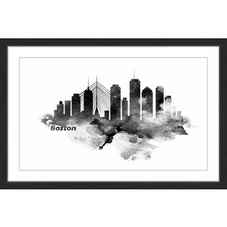 Marmont Hill - 'Classic Boston' Framed Painting Print