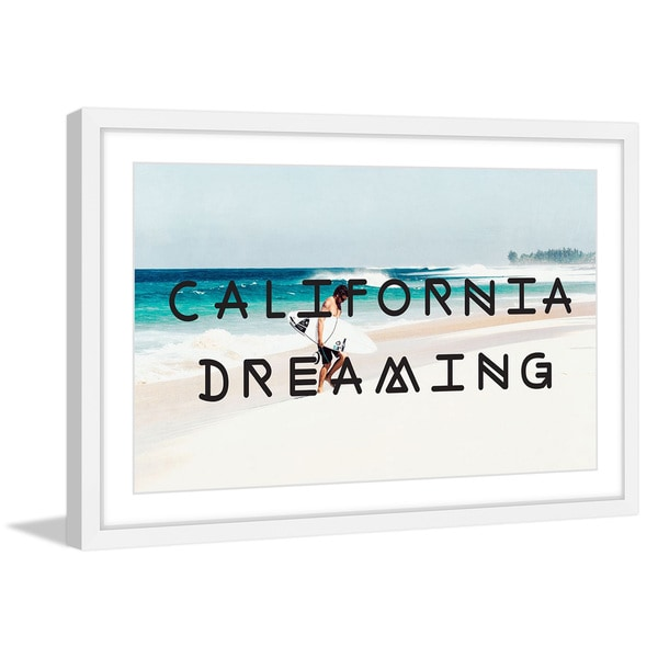 Marmont Hill - 'Dreaming in California' Framed Painting Print