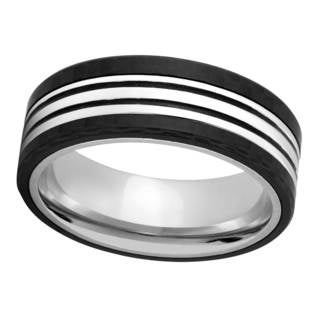 Titanium and Carbon Fiber Band - Black (More options available)
