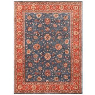 Herat Oriental Afghan Hand-knotted Vegetable Dye Oushak Wool Rug (9'1 x 12')