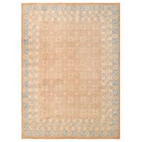 Herat Oriental Afghan Hand-knotted Vegetable Dye Khotan Wool Rug (9'11 x 13'6)