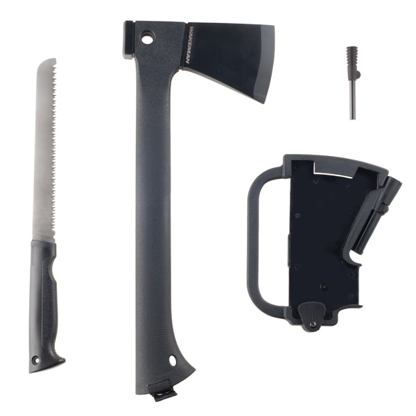 Wakeman Multi-Function Camping Axe with Saw & Firestarter