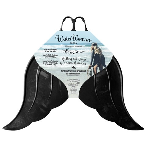 Mahina Mermaid Merfin Adult Black Rubber Water Woman Series Swimming Fin