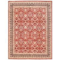 Herat Oriental Afghan Hand-knotted Vegetable Dye Kashan Wool Rug (9'10 x 13'2)