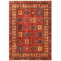 Herat Oriental Afghan Hand-knotted Vegetable Dye Kazak Wool Rug (9'3 x 13')