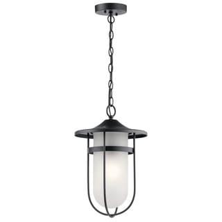 Kichler Lighting Finn Collection 1-light Black Outdoor Pendant