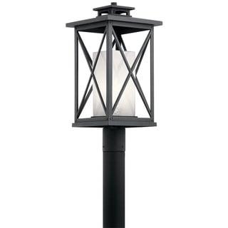 Kichler Lighting Piedmont Collection 1-light Distressed Black Outdoor Post Mount