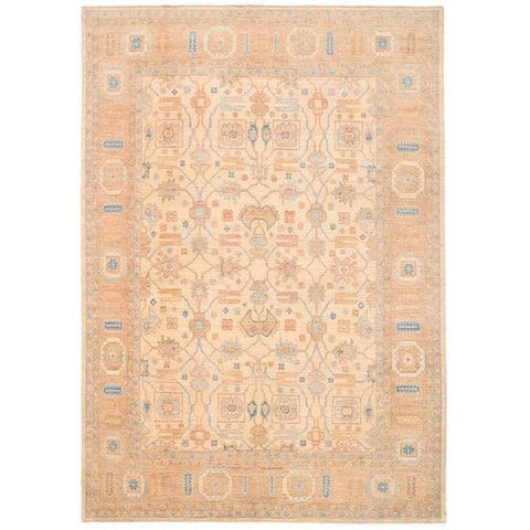 Handmade One-of-a-Kind Vegetable Dye Khotan Wool Rug (Afghanistan) - 10' x 14'2
