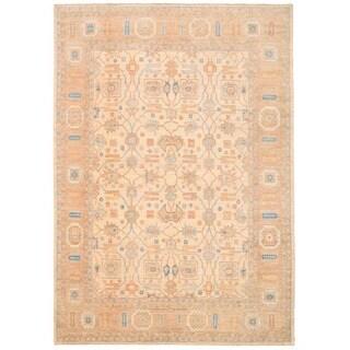 Herat Oriental Afghan Hand-knotted Vegetable Dye Khotan Wool Rug (10' x 14'2)