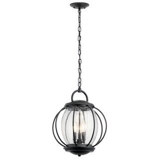 Kichler Lighting Vandalia Collection 3-light Textured Black Outdoor Pendant