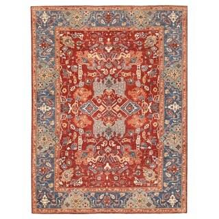 Herat Oriental Afghan Hand-knotted Vegetable Dye Bakshayesh Wool Rug (10'4 x 13'9)
