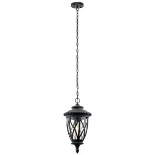 Kichler Lighting Admirals Cove Collection 1-light Textured Black Outdoor Pendant