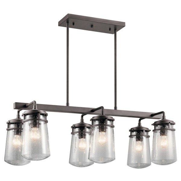 Kichler Lighting Lyndon Collection 6-light Architectural Bronze Outdoor Linear Chandelier. Opens flyout.