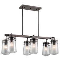 Kichler Lighting Lyndon Collection 6-light Architectural Bronze Outdoor Linear Chandelier
