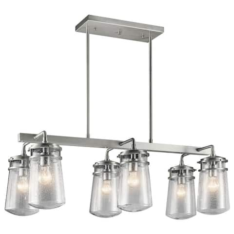 Kichler Lighting Lyndon Collection 6-light Brushed Aluminum Outdoor Linear Chandelier