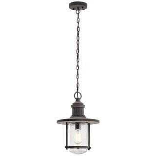 Kichler Lighting Riverwood Collection 1-light Weathered Zinc Outdoor Pendant