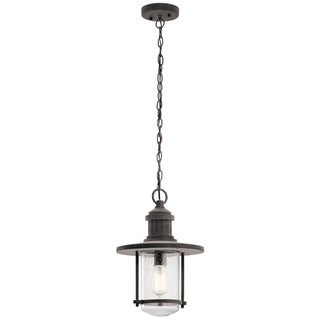 Kichler Lighting Riverwood Collection 1-light Weathered Zinc Outdoor Pendant