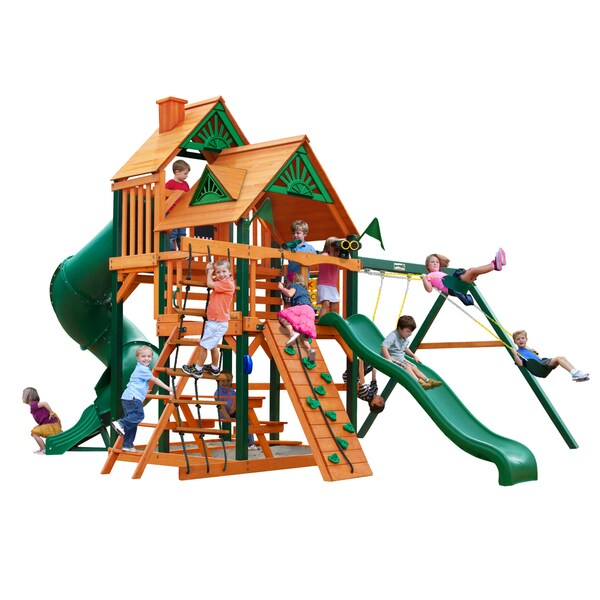 Gorilla Playsets Timber Shield and Standard Wood Roof Great Skye Playset