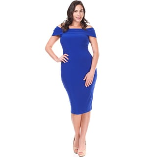 Jed Women's Plus-size Off-shoulder Bodycon Dress