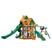 Gorilla Playsets Great Skye II Treehouse Cedar Swing Set with Timber Shield Posts
