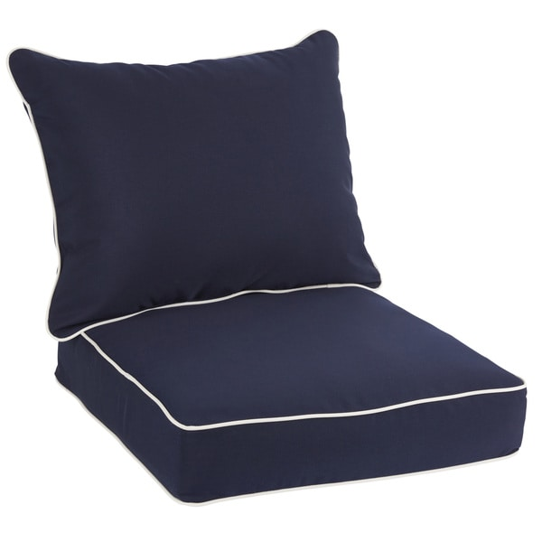 Sawyer Sunbrella Canvas Navy With Canvas Cording Indoor
