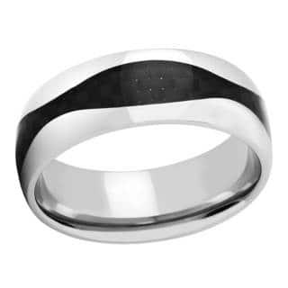 Titanium and Black Carbon Fiber Men's Band https://ak1.ostkcdn.com/images/products/14341331/P20918714.jpg?impolicy=medium