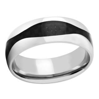 Titanium and Black Carbon Fiber Men's Band (More options available)