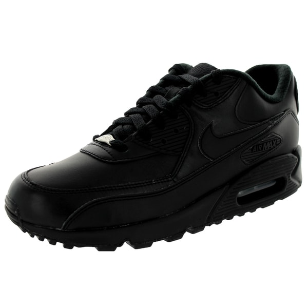 online store b9f7b ac2c0 Nike Men  x27 s Air Max 90 Black Leather Running Shoe