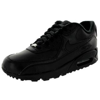 Nike Men's Air Max 90 Black Leather Running Shoe