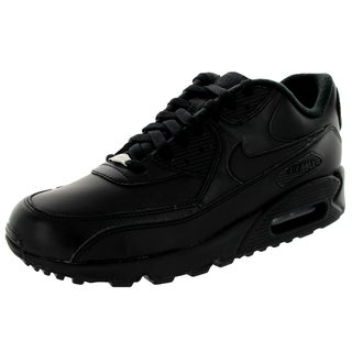 Nike Men's Air Max 90 Black Leather Running Shoe