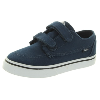 Vans Toddlers Brigata V Blue Canvas Skate Shoes