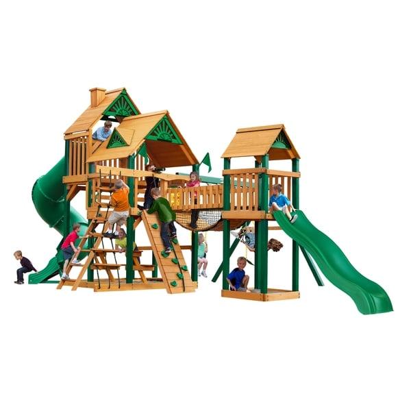 Gorilla Playsets Treasure Trove I Cedar Swing Set with Timber Shield Posts