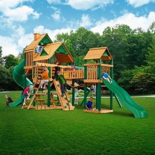 Gorilla Playsets Timber Shield and Standard Wood Roof Treasure Trove