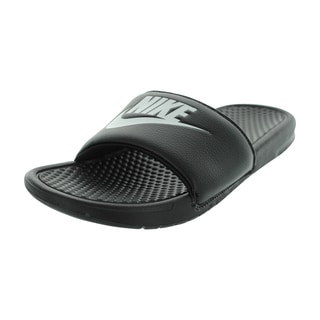 Nike Men's Benassi JDI Black Synthetic Leather Sandals