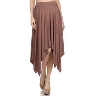 JED Women's Asymmetric Hem Mocha Midi Skirt