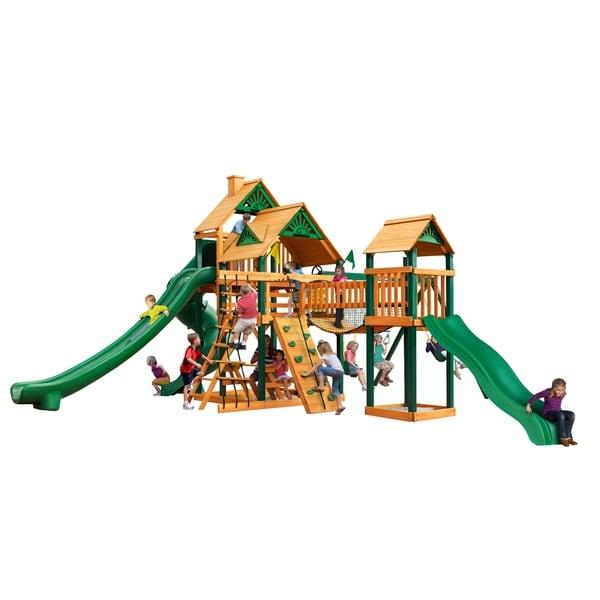 Gorilla Playsets Treasure Trove II Cedar Swing Set with Timber Shield Posts